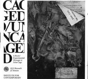 Okładka płyty Caged/Uncaged z 1993 roku, na której Jello Biafra i Eugene Chadbourne wykonują (w niespełna 4 minuty) Overpopulation And Art