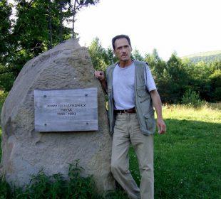 Aleksander Jasicki w Bieszczadach (archiwum autora)