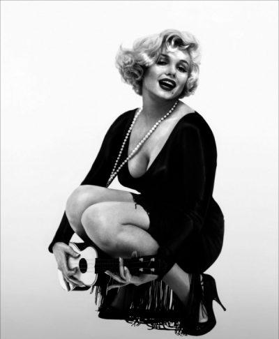 """Marilyn Monroe w filmie """"Pół żartem, pół serio"""", reż. B. Wilder, 1959"""