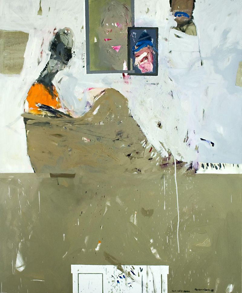"""Janusz Karbowniczek, Katowice, """"Sam sobie sterem"""", olej napłótnie, 100x80, 2007"""